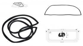 1955 1956 Cadillac (See Details) Rear Window Rubber Weatherstrip REPRODUCTION Free Shipping In The USA