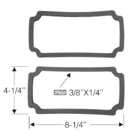 1948 1949 Cadillac (EXCEPT Series 75 Limousine and Commercial Chassis) Fog Light Lens Gasket 1 Pair REPRODUCTION Free Shipping In The USA