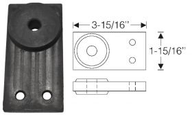 1939 1940 1941 1942 1946 1947 1948 1949 1950 1951 Cadillac (See Details) Tail Pipe to Frame Hanger Rubber Insulator REPRODUCTION  Free Shipping (See Details)
