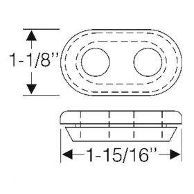 1948 1949 Cadillac Hydraulic Pump Grommet REPRODUCTION Free Shipping In The USA