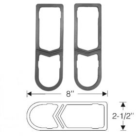 1942 1946 1947 Cadillac (EXCEPT Series 75 Limousine and Commercial Chassis) Tail Light Lens Rubber Gaskets 1 Pair REPRODUCTION Free Shipping In The USA
