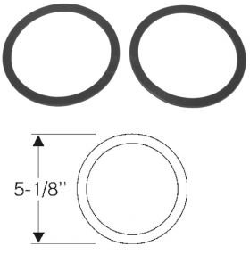 1950 1951 1952 Cadillac Fog Light Lens To Reflector Gaskets 1 Pair REPRODUCTION Free Shipping In The USA