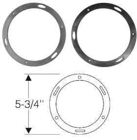 1950 1951 1952 Cadillac Fog Light Body to Ring Bezel Gaskets 1 Pair REPRODUCTION Free Shipping In The USA
