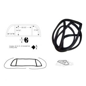 1948 1949 Cadillac Series 60 Special 4-Door Sedan Rear Window Rubber Weatherstrip Set REPRODUCTION Free Shipping In The USA