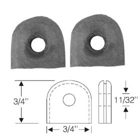 1935 1936 1937 1938 1939 1940 Cadillac (See Details) Rubber Wiring Grommets 1 Pair REPRODUCTION Free Shipping In The USA