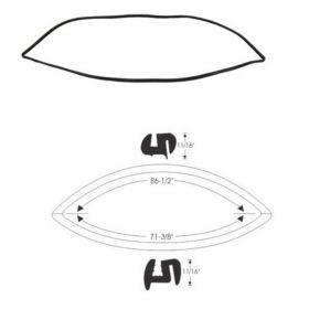 1958 Cadillac 4-Door (See Details) Rear Window Gasket REPRODUCTION Free Shipping In The USA