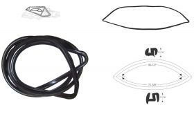 1958 Cadillac 4-Door Hardtop (EXCEPT Series 75 Limousines and Eldorado Brougham) Rear Window Gasket REPRODUCTION Free Shipping In The USA