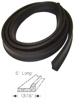 1951 1952 1953 Cadillac Convertible Front Bow Header Rubber Weatherstrip REPRODUCTION Free Shipping In The USA