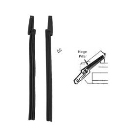 1963 1964 Cadillac Convertible Hinge Pillar Post Rubber Weatherstrips 1 Pair REPRODUCTION Free Shipping In The USA