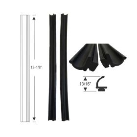 1961 1962 1963 1964 Cadillac Convertible Quarter Window Leading Edge Weatherstrips 1 Pair REPRODUCTION Free Shipping In The USA