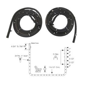 1957 1958 Cadillac (EXCEPT Series 75 Limousine) Front Door Rubber Weatherstrips 1 Pair REPRODUCTION Free Shipping In The USA