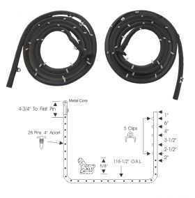 1957 1958 Cadillac 4-Door Hardtop (See Details) Front Door Rubber Weatherstrips 1 Pair REPRODUCTION Free Shipping In The USA