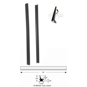 1961 1962 1963 1964 Cadillac 4-Door (See Details) Rear Side Window Leading Edge Weatherstrips 1 Pair REPRODUCTION Free Shipping In The USA
