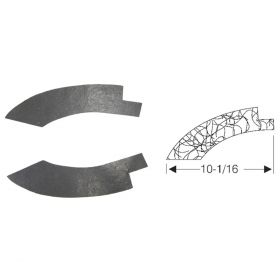 1946 1947 Cadillac Series 62 and 60 Special Rear Bumper Gravel Deflector Fillers 1 Pair REPRODUCTION Free Shipping In The USA