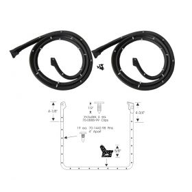 1961 1962 Cadillac 4-Door (EXCEPT Series 75 Limousines) Front Door Rubber Weatherstrips 1 Pair REPRODUCTION Free Shipping In The USA