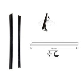 1962 Cadillac Series 62 and Deville 2-Door Hardtop Coupe Side Window Vertical Leading Edge Weatherstrips 1 Pair REPRODUCTION Free Shipping In The USA