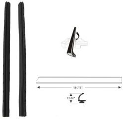 1961 Cadillac 2-Door Hardtop Side Window Vertical Leading Edge Weatherstrips 1 Pair REPRODUCTION Free Shipping In The USA