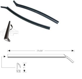 1965 1966 Cadillac 2-Door Quarter Window Leading Edge Weatherstrips 1 Pair REPRODUCTION Free Shipping In The USA