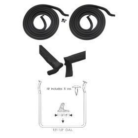 1954 1955 1956 Cadillac 2-Door Hardtop Door Rubber Weatherstrips 1 Pair REPRODUCTION Free Shipping In The USA