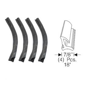 1965 1966 Cadillac 4-Door Pillared Sedan (EXCEPT Series 75 Limousine) Door Center Post Weatherstrip Set (4 Pieces) REPRODUCTION Free Shipping In The USA
