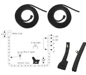 1957 1958 Cadillac 2-Door Hardtop and Convertible Front Door Rubber Weatherstrips 1 Pair REPRODUCTION Free Shipping In The USA