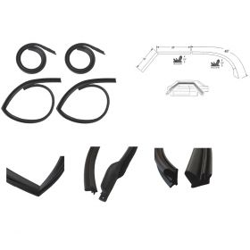 1966 Cadillac Fleetwood Brougham Roof Rail Rubber Weatherstrip Set (4 Pieces) REPRODUCTION Free Shipping In The USA