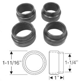 1938 1939 1940 Cadillac (See Details) Lower Suspension Arm Dust Rubber Set (4 Pieces) REPRODUCTION Free Shipping In The USA