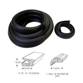 1942 1946 1947 Cadillac Series 62 And Series 60 Special Trunk Rubber Weatherstrip Set (2 Pieces) REPRODUCTION Free Shipping In The USA