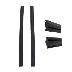 1957 Cadillac 4-Door Sedan (See Details) Side Window Leading Edge Rubber Weatherstrips 1 Pair REPRODUCTION Free Shipping In The USA
