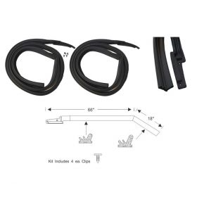 1963 1964 Cadillac 4-Door 4-Window Hardtop Roof Rail Rubber Weatherstrips 1 Pair REPRODUCTION Free Shipping In The USA