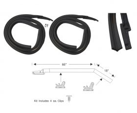 1963 1964 Cadillac 4-Door 4-Window Hardtop Roof Rail Rubber Weatherstrip 1 Pair REPRODUCTION Free Shipping In The USA
