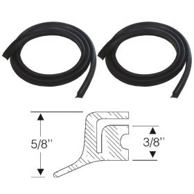 1950 1951 1952 1953 Cadillac (See Details) Fender Skirt Edge Seal 1 Pair REPRODUCTION Free Shipping In The USA