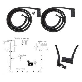 1961 Cadillac Deville Town Sedan Rear Door Rubber Weatherstrips 1 Pair REPRODUCTION Free Shipping In The USA