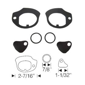 1959 1960 Cadillac (See Details) Door Handle Gasket Kit (6 Pieces) REPRODUCTION