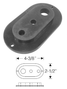 1954 1955 1956 Cadillac Air Conditioner Pipes To Compressor And Condenser Rubber Grommet REPRODUCTION Free Shipping In The USA