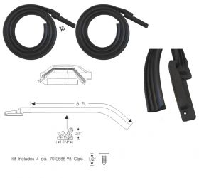 1963 1964 Cadillac 4-Door 6-Window Roof Rail Rubber Weatherstrips 1 Pair REPRODUCTION Free Shipping In The USA