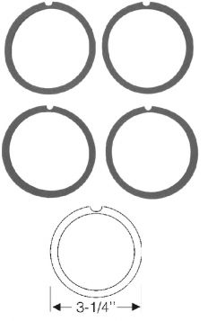 1955 1956 Cadillac (See Details) Tail Light Lens Gasket Set (4 Pieces) REPRODUCTION Free Shipping In The USA