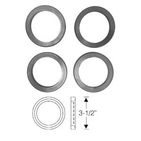 1955 1956 Cadillac (See Details) Tail Light Housing To Fender Gasket Set (4 Pieces) REPRODUCTION Free Shipping In The USA