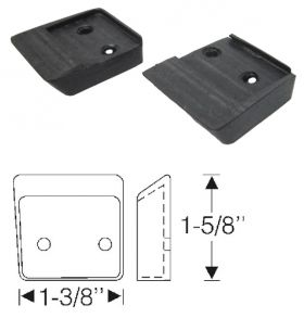 1948 1949 Cadillac Convertible Folding Top Side Roof Rail Rubber Bumpers 1 Pair REPRODUCTION Free Shipping In The USA