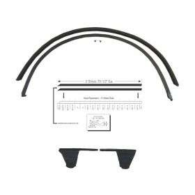 1956 Cadillac Sedan Deville Roof Rail Weatherstrips 1 Pair REPRODUCTION Free Shipping In The USA