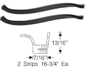 1957 Cadillac (See Details) Hood To Fender Rubber Weatherstrips 1 Pair REPRODUCTION Free Shipping In The USA