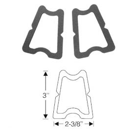 1954 1955 Cadillac License Plate Lens Rubber Gaskets 1 Pair REPRODUCTION