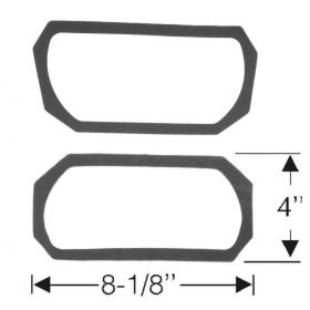 1956 Cadillac Parking Light And Fog Light Lens Gasket 1 Pair REPRODUCTION Free Shipping In The USA