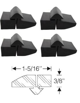 1964 Cadillac (EXCEPT Series 75 Limousine and Commercial Chassis) Hood to Fender Bumper Set (4 Pieces) REPRODUCTION