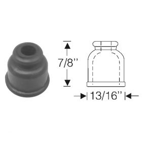 Cadillac Spark Plug Rubber Grommet (For 7 mm Wire) REPRODUCTION