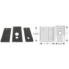 1941 Cadillac (See Details) Black Rubber Automatic Floorplate Kit 3 Pieces REPRODUCTION Free Shipping In The USA