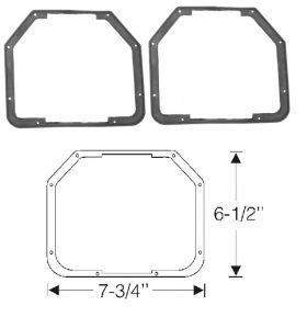 1946 1947 1948 1949 Cadillac (See Details) Fog Light Rubber Gaskets WITH Notches 1 Pair REPRODUCTION Free Shipping In The USA