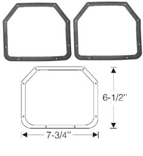 1948 1949 Cadillac (EXCEPT Series 75 Limousine and Commercial Chassis) Fog Light to Body Rubber Gaskets WITHOUT Notches 1 Pair REPRODUCTION Free Shipping In The USA