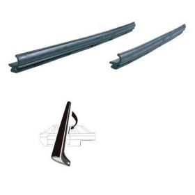 1959 1960 Cadillac 4-Door 4-Window Side Window Leading Edge Weatherstrips 1 Pair REPRODUCTION Free Shipping In The USA