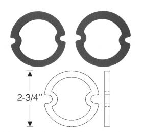 1948 1949 1950 1951 1952 1953 1954 1955 Cadillac (See Details) Parking Light Lens Rubber Gaskets 1 Pair REPRODUCTION